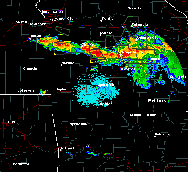 Radar Image for Severe Thunderstorms near Village of Four Seasons, MO at 7/1/2015 10:21 PM CDT