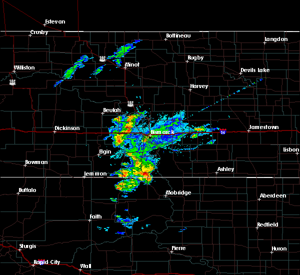 Radar Image for Severe Thunderstorms near Fort Yates, ND at 7/25/2020 7:02 PM CDT