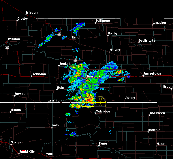 Radar Image for Severe Thunderstorms near Fort Yates, ND at 7/25/2020 7:18 PM CDT