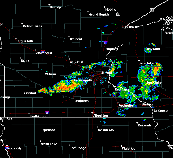 Radar Image for Severe Thunderstorms near Lafayette, MN at 7/25/2020 7:23 PM CDT