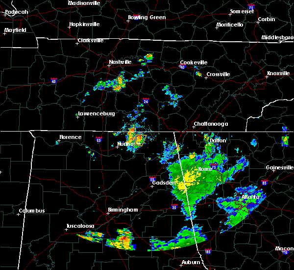 Radar Image for Severe Thunderstorms near Hytop, AL at 7/25/2020 7:32 PM CDT