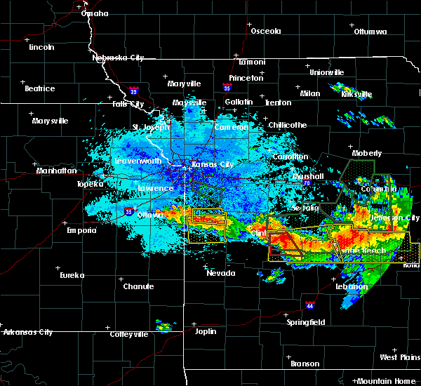 Radar Image for Severe Thunderstorms near Brownington, MO at 7/1/2015 10:25 PM CDT