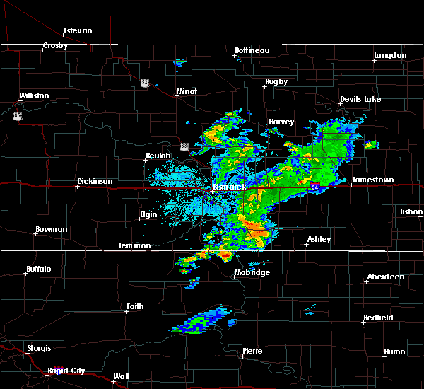 Radar Image for Severe Thunderstorms near Braddock, ND at 7/25/2020 8:12 PM CDT