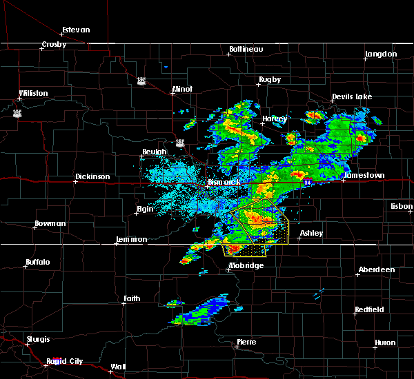 Radar Image for Severe Thunderstorms near Braddock, ND at 7/25/2020 8:27 PM CDT