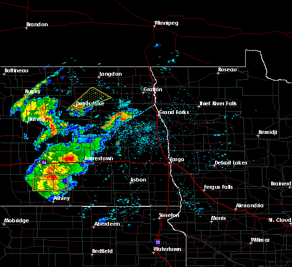 Radar Image for Severe Thunderstorms near Niagara, ND at 7/25/2020 9:26 PM CDT