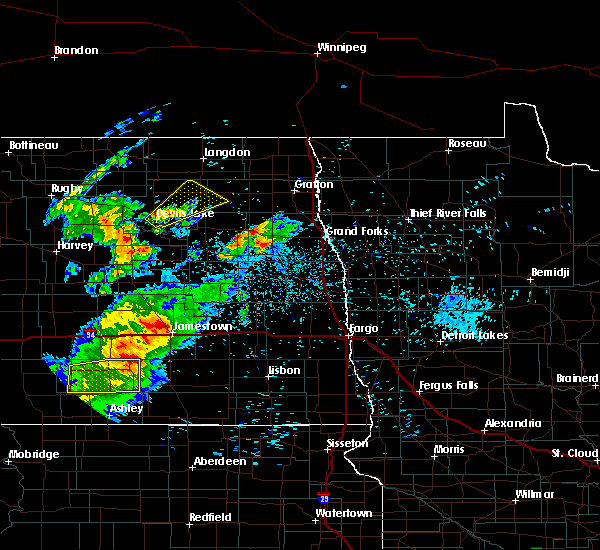 Radar Image for Severe Thunderstorms near Niagara, ND at 7/25/2020 9:35 PM CDT