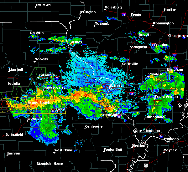 Radar Image for Severe Thunderstorms near St. Elizabeth, MO at 7/1/2015 10:27 PM CDT