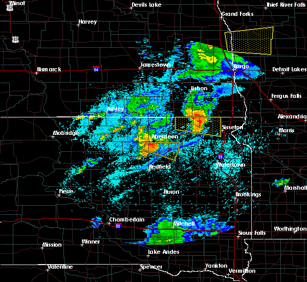 Radar Image for Severe Thunderstorms near Lake City, SD at 7/26/2020 12:35 AM CDT