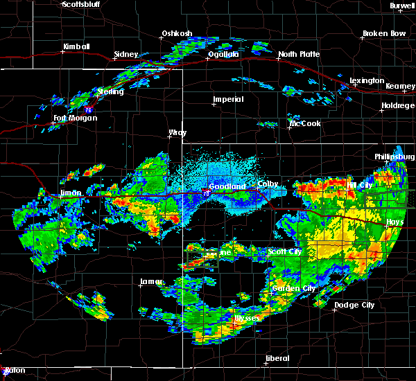 Radar Image for Severe Thunderstorms near Cheyenne Wells, CO at 7/26/2020 5:05 PM MDT