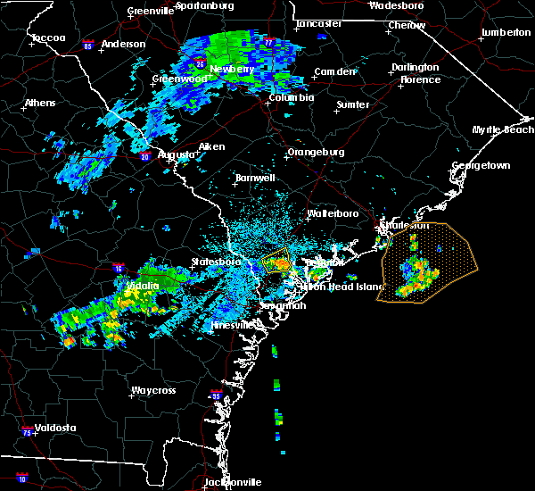 Radar Image for Severe Thunderstorms near Edisto Beach, SC at 7/1/2015 11:47 PM EDT