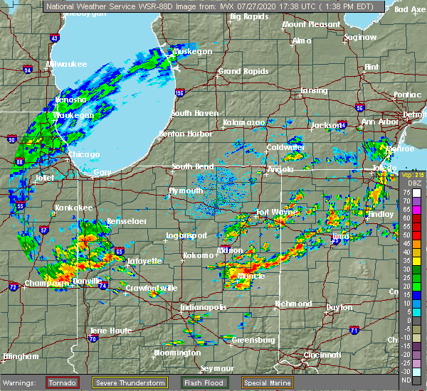 Radar Image for Severe Thunderstorms near Miller City, OH at 7/27/2020 1:42 PM EDT