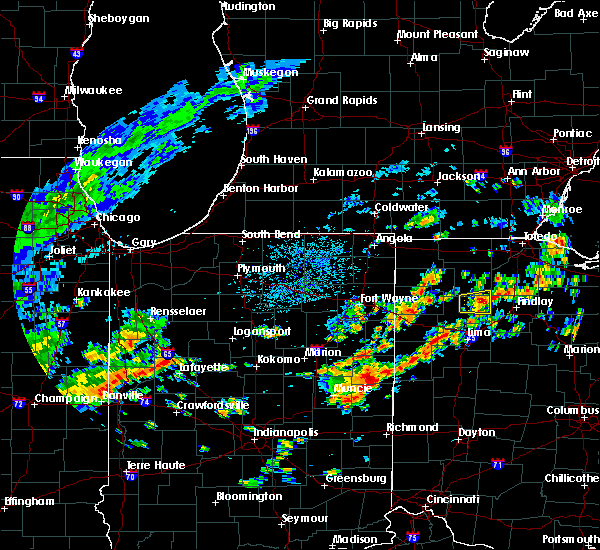 Radar Image for Severe Thunderstorms near Leipsic, OH at 7/27/2020 1:57 PM EDT