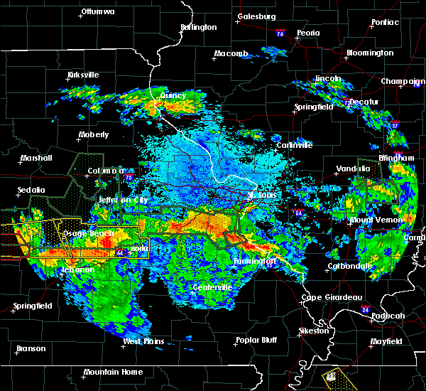 Radar Image for Severe Thunderstorms near Rolla, MO at 7/1/2015 10:54 PM CDT