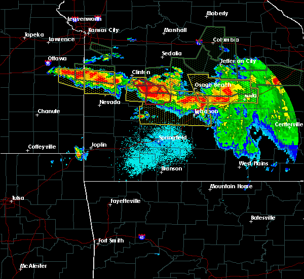 Radar Image for Severe Thunderstorms near Bolivar, MO at 7/1/2015 10:53 PM CDT