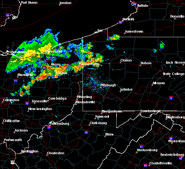 Radar Image for Severe Thunderstorms near West Middlesex, PA at 7/27/2020 5:19 PM EDT