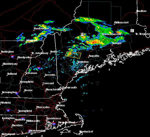Radar Image for Severe Thunderstorms near Hartland, ME at 7/27/2020 6:49 PM EDT