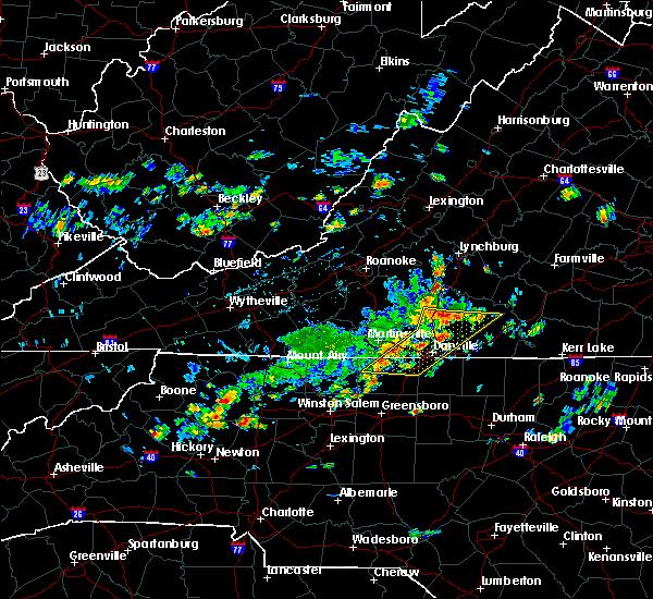 Radar Image for Severe Thunderstorms near Sandy Level, VA at 7/28/2020 2:51 PM EDT