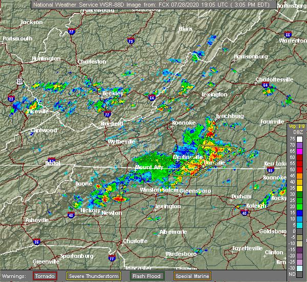 Radar Image for Severe Thunderstorms near Reidsville, NC at 7/28/2020 3:12 PM EDT