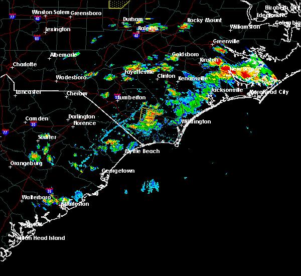Radar Image for Severe Thunderstorms near Hallsboro, NC at 7/28/2020 4:27 PM EDT
