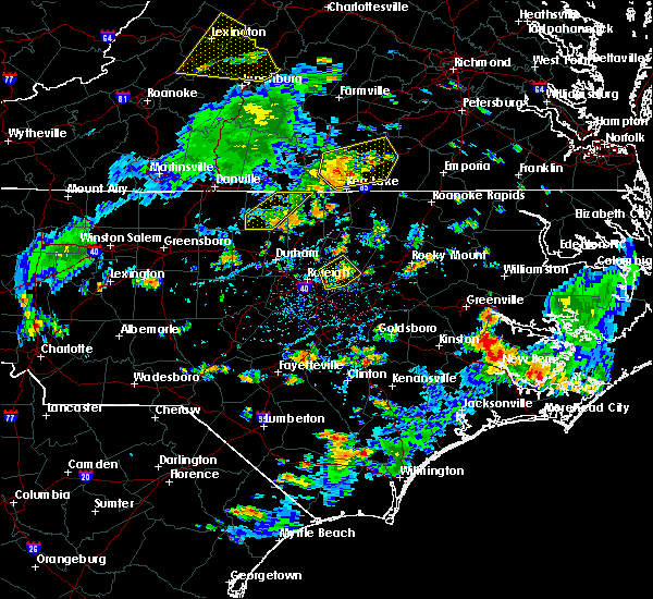Radar Image for Severe Thunderstorms near Keener, NC at 7/28/2020 4:52 PM EDT