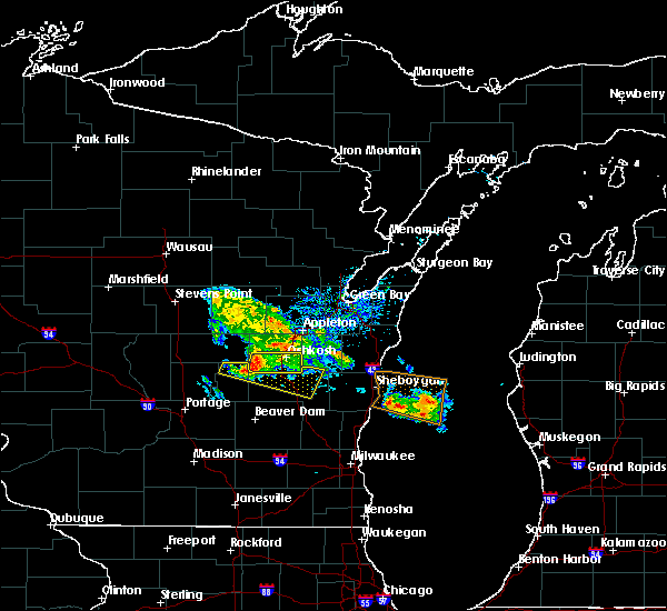 Radar Image for Severe Thunderstorms near Van Dyne, WI at 7/28/2020 5:44 PM CDT