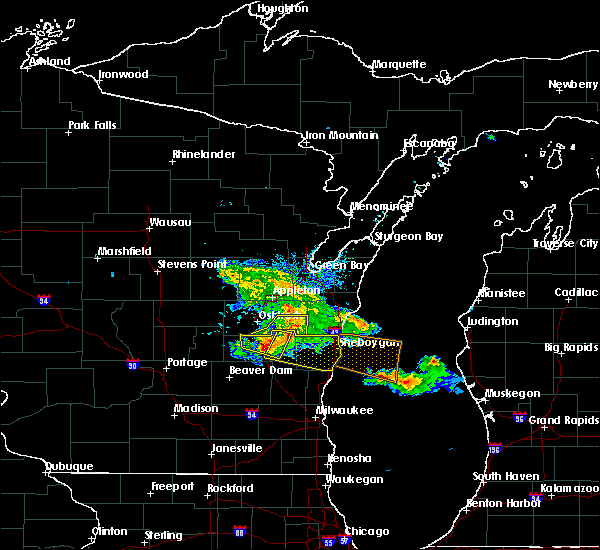 Radar Image for Severe Thunderstorms near Reedsville, WI at 7/28/2020 6:15 PM CDT