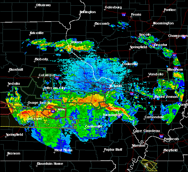 Radar Image for Severe Thunderstorms near Steelville, MO at 7/1/2015 11:19 PM CDT