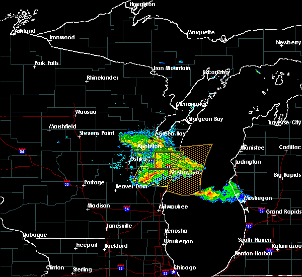 Radar Image for Severe Thunderstorms near Reedsville, WI at 7/28/2020 6:38 PM CDT