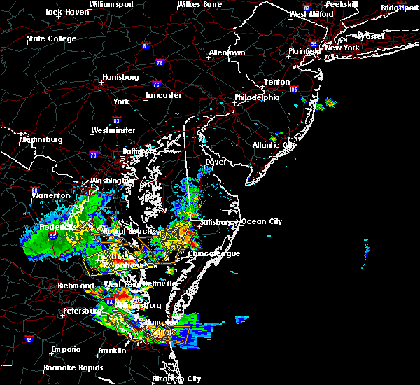 Radar Image for Severe Thunderstorms near Pittsville, MD at 7/28/2020 8:15 PM EDT