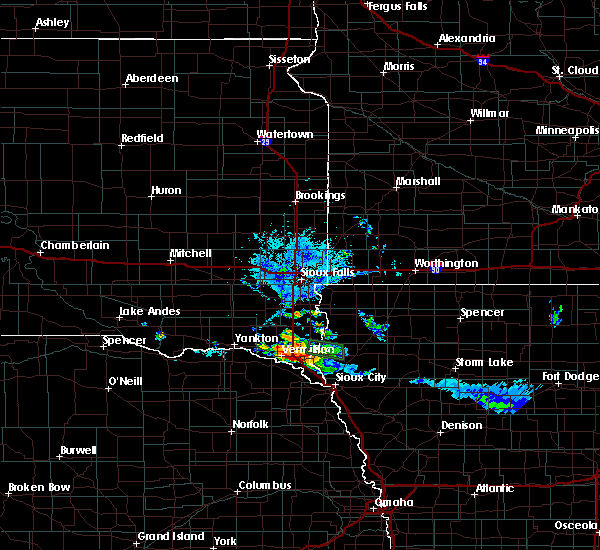 Radar Image for Severe Thunderstorms near Elk Point, SD at 7/28/2020 7:41 PM CDT