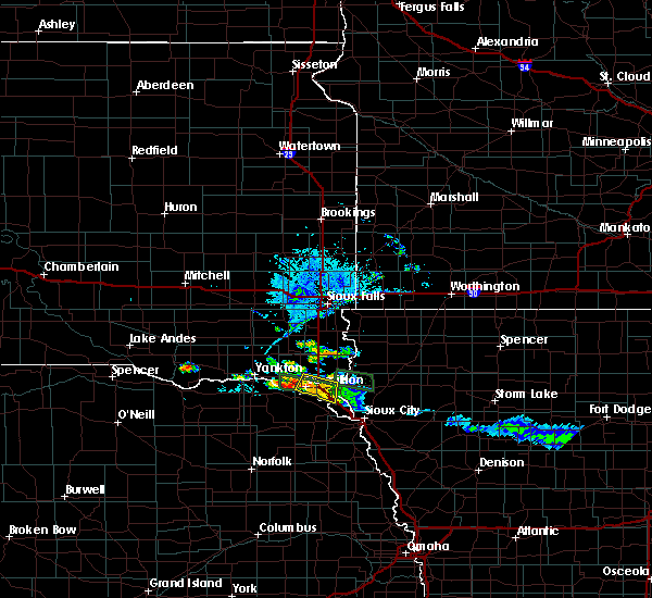 Radar Image for Severe Thunderstorms near Gayville, SD at 7/28/2020 8:09 PM CDT