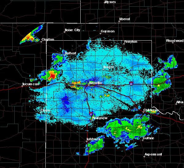 Radar Image for Severe Thunderstorms near Vega, TX at 7/28/2020 10:35 PM CDT