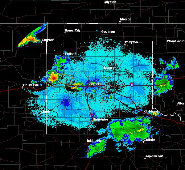 Radar Image for Severe Thunderstorms near Vega, TX at 7/28/2020 10:42 PM CDT
