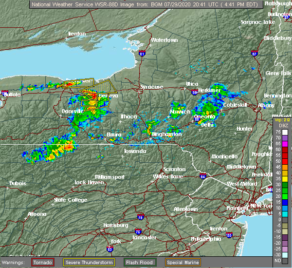 Radar Image for Severe Thunderstorms near Clyde, NY at 7/29/2020 4:44 PM EDT
