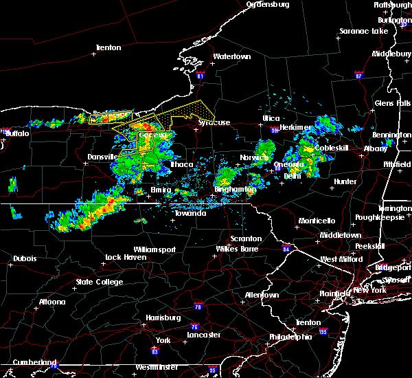 Radar Image for Severe Thunderstorms near Seneca Falls, NY at 7/29/2020 5:04 PM EDT