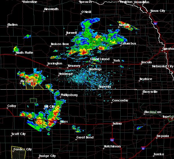 Radar Image for Severe Thunderstorms near Hendley, NE at 7/29/2020 7:01 PM CDT