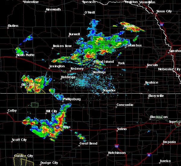 Radar Image for Severe Thunderstorms near Hendley, NE at 7/29/2020 7:12 PM CDT
