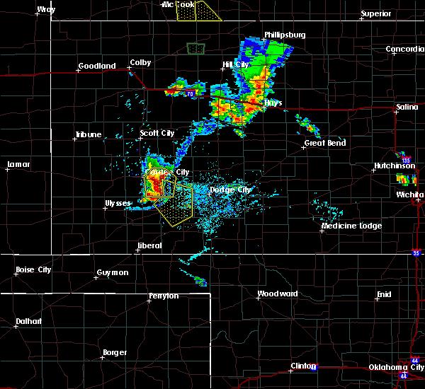 Radar Image for Severe Thunderstorms near Cimarron, KS at 7/29/2020 7:14 PM CDT