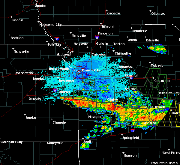 Radar Image for Severe Thunderstorms near Richards, MO at 7/1/2015 11:43 PM CDT
