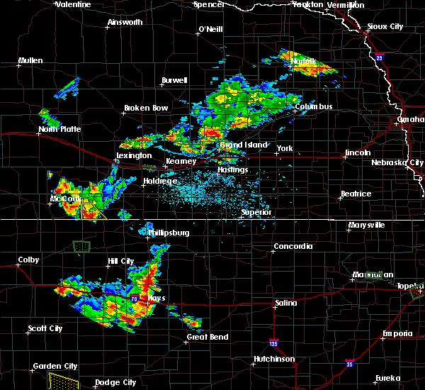Radar Image for Severe Thunderstorms near Wilsonville, NE at 7/29/2020 7:21 PM CDT