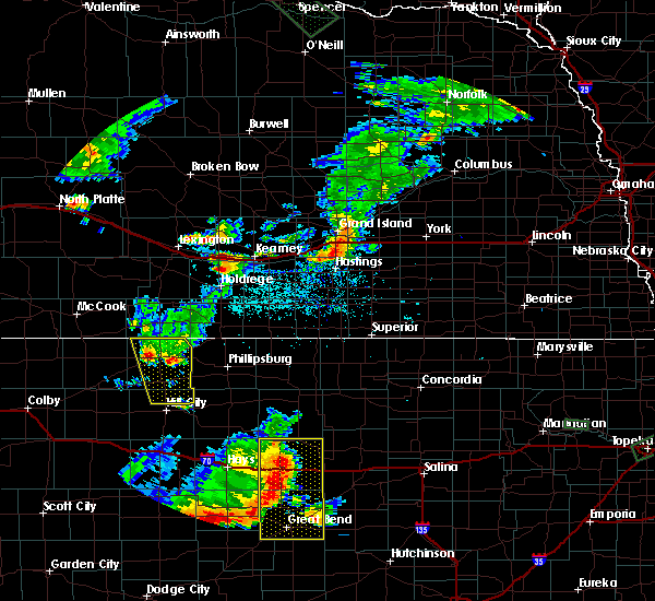 Radar Image for Severe Thunderstorms near Elm Creek, NE at 7/29/2020 8:16 PM CDT