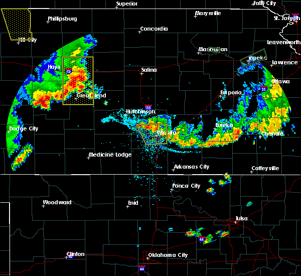 Radar Image for Severe Thunderstorms near Andover, KS at 7/29/2020 8:27 PM CDT