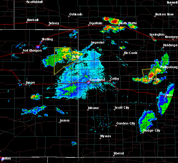 Radar Image for Severe Thunderstorms near Yuma, CO at 7/29/2020 7:57 PM MDT