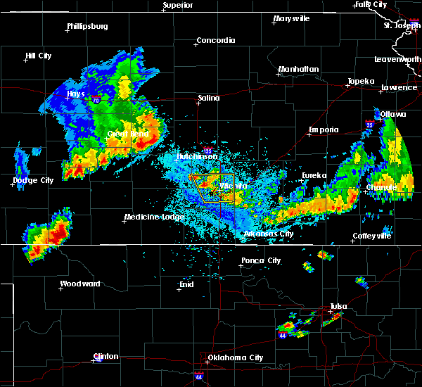 Radar Image for Severe Thunderstorms near South Hutchinson, KS at 7/29/2020 9:22 PM CDT