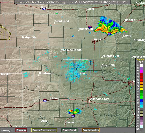 Radar Image for Severe Thunderstorms near Burlington, OK at 7/29/2020 9:48 PM CDT
