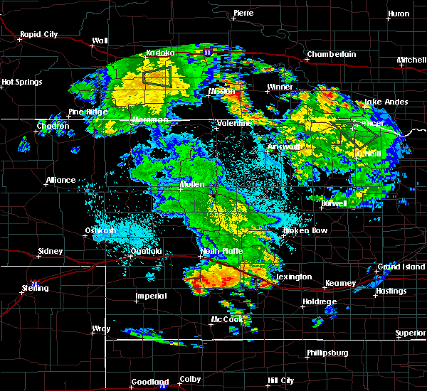Radar Image for Severe Thunderstorms near Eustis, NE at 7/29/2020 10:26 PM CDT
