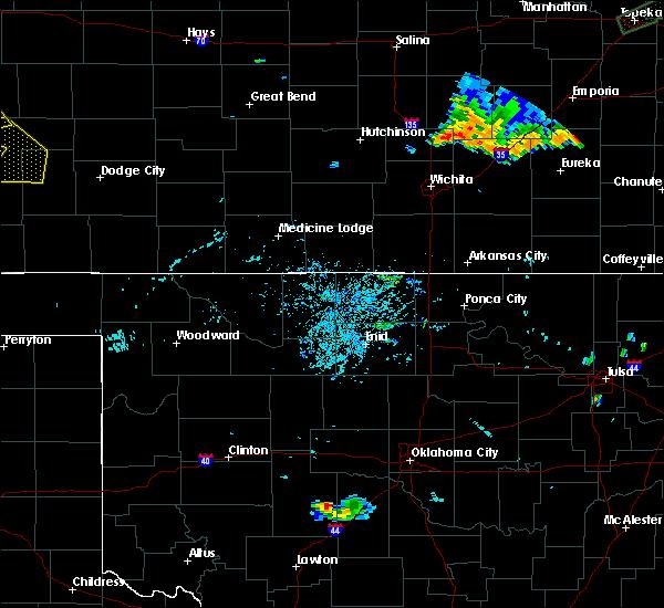 Radar Image for Severe Thunderstorms near Lambert, OK at 7/29/2020 10:26 PM CDT