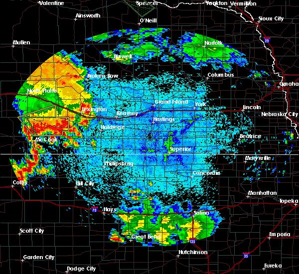 Radar Image for Severe Thunderstorms near Eustis, NE at 7/29/2020 11:02 PM CDT