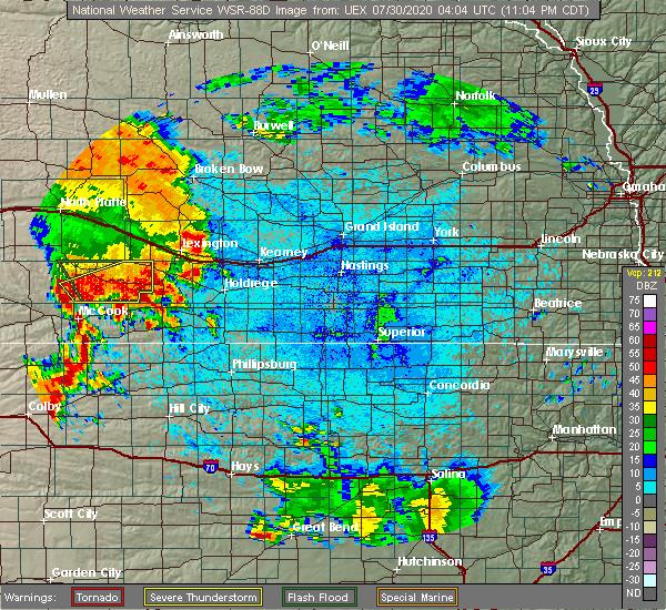 Radar Image for Severe Thunderstorms near Stockville, NE at 7/29/2020 11:09 PM CDT