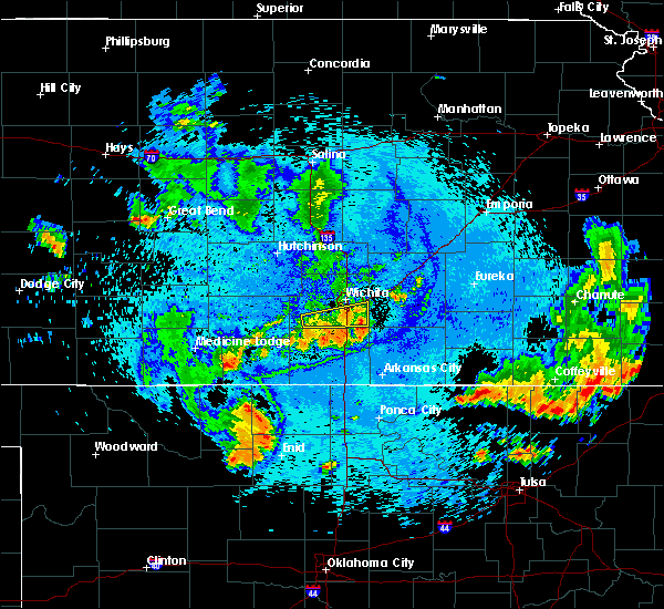 Radar Image for Severe Thunderstorms near Andover, KS at 7/29/2020 11:14 PM CDT